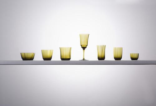 仙台ガラスコレクション #1酒杯 #2グラス #3細手グラス #4洋酒杯 #5蕎麦猪口 #6小鉢 #7ワイングラスの写真