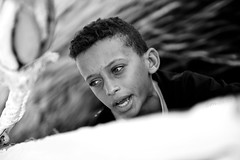 Joven Nubio (impodi@gmail.com) Tags: africa blancoynegro rio bn egipto nubia abusimbel nilo faluca