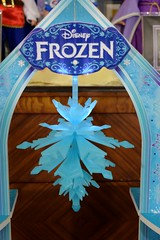 Disney Frozen Snowflake Mansion by KidKraft - Assembling - Step 31 -  Hanging the Chandelier From the Third Floor Archway - Closeup - Unlit (drj1828) Tags: snowflake castle ice toy frozen palace costco mansion dollhouse 12inch assembling kidkraft
