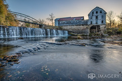 Falls of Rough - Mill at Sunset (AP Imagery) Tags: bridge sunset mill abandoned twilight kentucky ky thefalls urbanexploring urbex greenfarm roughriver fallsofrough