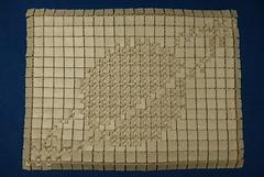 Saturn Tessellation (Michał Kosmulski) Tags: beige origami planet astronomy saturn tessellation solarsystem bitmap elephanthidepaper pixmap foursinkbase michałkosmulski