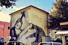 """""""É la ripetizione che consuma la meraviglia""""  PASQUALE FESTA CAMPANILE  16x8 mt / Melfi (.krayon) Tags: art wall murals wallart pixel pixelart graffito melfi omaggio krayon wallporn pasqualefestacampanile streetartglobe streetarteveryday"""