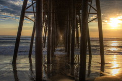 Sunset Pier (KC Mike Day) Tags: ocean california light sunset sea west water clouds coast pier surf pacific southern oceanside milky