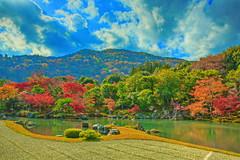 Tenryu-ji  Photo66 (joezhou98) Tags: red fall colors leaves japan garden japanese leaf kyoto arashiyama zen  tenryuji