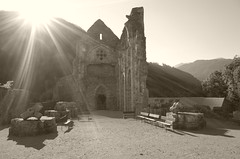(dadou~) Tags: france mountains alps abbey clouds nuages ricohgr montagnes frenchalps abbaye saintjeandaulps