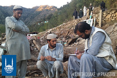 Shifa ul Mulk's, 28, a father of five children house was completely destroyed due to the earthquake. He lives in village in the Khyber-Pakhtunkhwa province in Pakistan. Thankfully his family is safe.