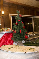 The food and the tree (Dan_lazar) Tags: christmas party food tree israel workers buffet  nazareth           clal