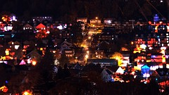 Zoom Lens, City of Bethlehem, Pennsylvania (a2roland) Tags: lighting street blue red blur colors night lens landscape photography evening photo soft flickr angle time zoom bokeh pennsylvania hill norman pa nightime valley middletown bethlehem steep flicker norm zeb a2rolandyahoocom