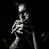 Agnus Dei (Christine Lebrasseur) Tags: portrait people blackandwhite man france art 6x6 alex canon pray profile teenager fr onblack gironde 500x500 saintloubes allrightsreservedchristinelebrasseur