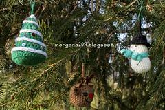 AmigurumiXmas_01w (Morgana209) Tags: christmas tree lana reindeer snowman handmade amigurumi albero pino natale pupazzo renna creatività alberello natalizzi natale2015