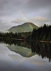 Rainbow at Sasamat lake (jeslu) Tags: canon shower drops rainbow ripples s90 poweshot sasamatlake