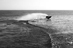 D (Yago Raymond) Tags: barcelona sea water mediterranean surf catalunya winch tow skimboard