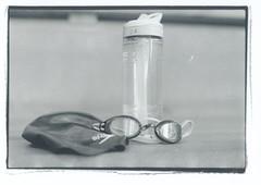 Gear Up (Misshree Photography) Tags: swim team highschool practice waterbottle googles swimcap