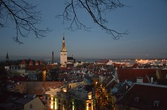 Vana Tallinn (anuwintschalek) Tags: winter tallinn estonia december churchtower steeple altstadt oldtown eesti estland talv vanalinn toompea kirchturm 2015 oleviste aussichtsplattform domberg d7k vaateplatvorm kirikutorn kohtuotsa nikond7000 sightseeingpoint 18140vr