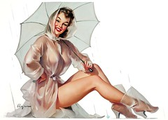 For All Weather Protection, Simoniz advertisement by Gil Elvgren, 1950s (Tom Simpson) Tags: woman sexy illustration vintage painting advertising boobs ad advertisement 1950s pinup pinupart vintagead gilelvgren simoniz forallweatherprotection