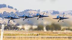 Takeoff (lycheng99) Tags: airshow fleetweek fleetweeksf fleetweek2016 blueangels airplane jet oakland oaklandinternationalairport takeoff lifeoff formation ascend performance precision