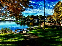 Quiet morning on the lake... (Dennis Sparks) Tags: color michigan springlake iphone