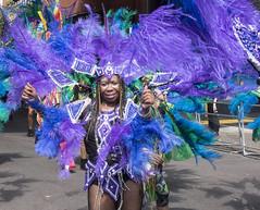 purple feathers (Mark Rigler UK) Tags: portrait beautiful school samba notting hill carnival 2016 london england party street girl dance festival carribean parade music bass candid people brazilian costume ladbroke grove westbourne rx10 sony
