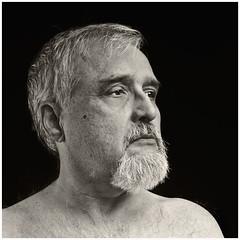 Me 2016 #48: Hairy Old Man (hamsiksa) Tags: portrait selfportrait studioportrait blackwhiteportrait studio hair oldmenarebeautiful age aging geezer noblegeezer