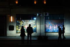 watching (Ian Muttoo) Tags: dsc74401editshiftn shiftn toronto ontario canada gimp ufraw nuitblanche nuitblanche2016 2016 nbto16 night street andthetransformationreveals camillehongxin vladimirantaki theguardians 333 bay 333bayst 333baystreet st silhouette