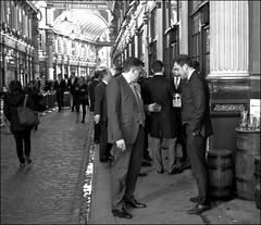 Phone checking - DSCF8327a (normko) Tags: london city leaden hall market pub phone cigarette smoke