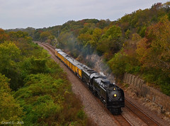"""Eastbound Passenger Special in Topeka, KS (""""Righteous"""" Grant G.) Tags: up union pacific railroad railway locomotive train trains steam engine topeka kansas 844 passenger special"""