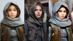 Black Series Jyn Erso face touch-up (kevchan1103) Tags: star wars rogue one story jyn erso felicity jones hasbro black series toys action figure repaint sergeant jedha