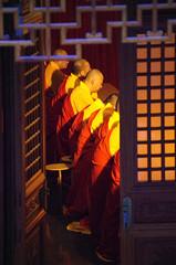 Monks at Jing'an temple (Sallyrango) Tags: shanghai china jingan temple jingantemple buddhisttemple buddhistmonk