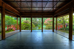 View On The Japanse Garden (Esther Seijmonsbergen) Tags: japansetuin japanesegarden hdr 3xp xt2 pagode estherseijmonsbergen thehague denhaag parkclingendael holland nederland historischetuin rijksmonument fotograafdenhaag thingstodointhehague