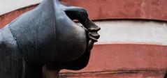 secret smile (grannie annie taggs) Tags: statue profile heidelberg monkey germany