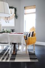2016 Christmas Home Tour (emily @ go haus go) Tags: downywrinklereleaser downy sponsored sponsoredpost sponsor diningroom kitchen tablecloth getting out wrinkles