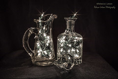 Clear And Bright (rebeccalatsonphotography) Tags: illumination glass decanters jar lights colorful multicolored white clear festive canon rebeccalatsonphotography