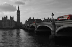 Red Buses (Michael's shots) Tags: london westminsterbridge redbus bigben selectivecolour