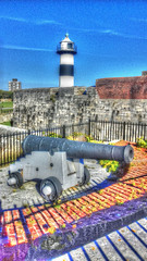 Southsea Castle (Rob_Pennycook) Tags: southseasouthsea castle seafront canon lighthouse tonemapped photomatix