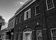 Main Street Buildings (that_damn_duck) Tags: mainstreetcolumbiasc southcarolina angles arches bw blackwhite