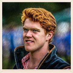 Highland Games Spectator (FotoFling Scotland) Tags: square squareformat birnam ginger male face highlandgames