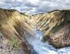 Above the thundering falls (E.K.111) Tags: waterfall yellowstone outdoors outside nature nationalpark panorama pano ptgui canon5dmarkiii water clouds
