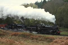 No sheep hut (feroequineologist) Tags: 76038 76079 76084 nymr railway train northyorkshiremoorsrailway steam