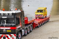 LEGO - Mercedes-Benz Actros 4160 (JaapTechnic) Tags: lego remote control sbrick eurobricks jaaptechnic build scalemodelersassociation liebherr nooteboom semitrailer semi trailer escort vehicle truck power functions