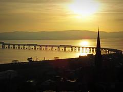 Rail Bridge Sunset (eric robb niven) Tags: ericrobbniven scotland taybridge railbridge sunset dundee landscape winter