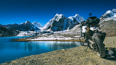 At Home (Motographer) Tags: gurudongmar lake landscape himalayas easternhimalayas northsikkim sikkim mountains blue reflection motographer motograffer motography motorcyclegetaways motorcycle motorbiking touring royalenfield himalayan olympus omd em1 mzuiko 1240mmf28pro snow ice cold winter adventure