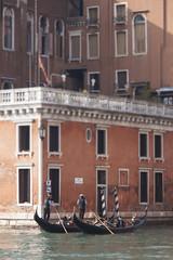 Venice Gondoliers (My Italian Sketchbook) Tags: venice italy outdoor landscape venezia italia gondola canal gondolier gondoliere
