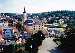 Greiz látképe a Schlossbergről