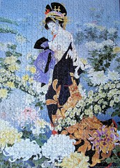 Flowers of the Orient 1 (pefkosmad) Tags: jigsaw puzzle leisure hobby pastime 1000pieces complete geisha woman girl japan