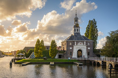 Autumn Light (martijnvdnat) Tags: dutch leiden netherlands architecture autumn canals city citygate cityscape dutchculture entrance fall gate medieval street