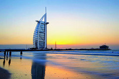 SUNSET AT THE BEACH (michaelgerardceralde™) Tags: burj burjalarab dubai dubaitour uae uaetour uaetourism uaetravel