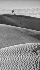 Photographer on the dunes (Brian L55) Tags: morocco mhamid dunes mono