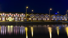 No. 1090 Bindesbøll houses (H-L-Andersen) Tags: bindesbøll skagen skagenfiskerestaurant denmark landoflight reflections sea water harbor night houses architecture 6d canon6d canoneos6d hlandersen