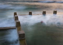 Blocks (Crouchy69) Tags: sunrise dawn landscape seascape ocean sea water coast clouds sky reflection movement long exposure ross jones pool coogee beach sydney australia