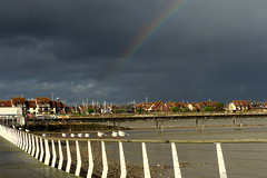 Hythe Under the Rainbow (Hythe Eye) Tags: hythe hampshire southamptonwater winter rainbow marinavillage esplanade storms sky